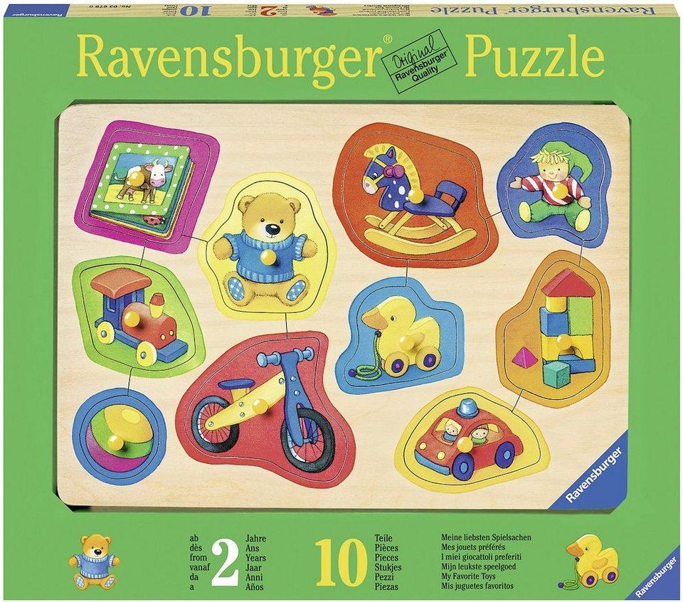 Ravensburger Kinderpuzzle aus Holz, 10 Teile, »Meine liebsten Spielsachen«