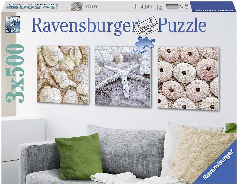 Ravensburger Triptychon Puzzle, 3x500 Teile, »Maritime Eindrücke«