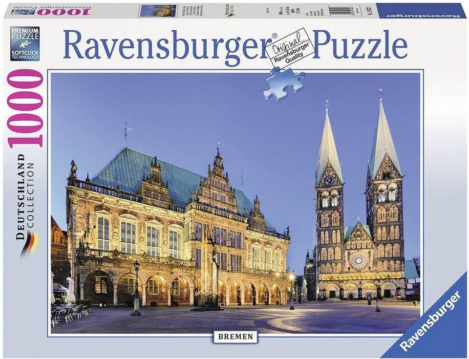 ravensburger puzzle 1000 teile bremen blick aufs. Black Bedroom Furniture Sets. Home Design Ideas
