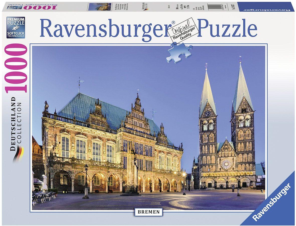Ravensburger Puzzle, 1000 Teile, »Bremen Blick aufs Rathaus«
