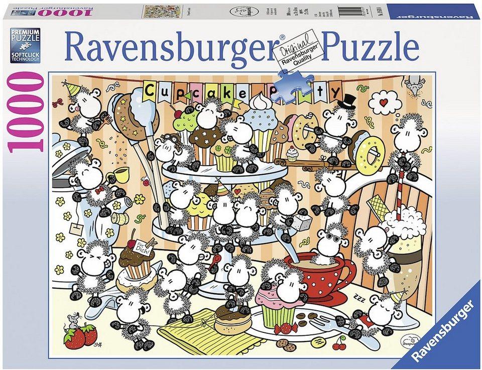 Ravensburger Puzzle, 1000 Teile, »Sheepworld Cupcakes«