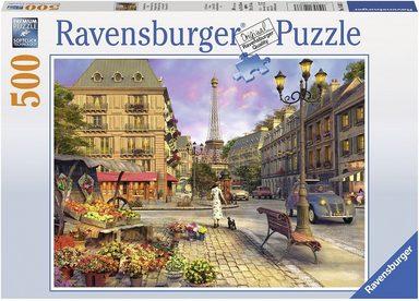 Ravensburger Puzzle, 500 Teile, »Spaziergang durch Paris«