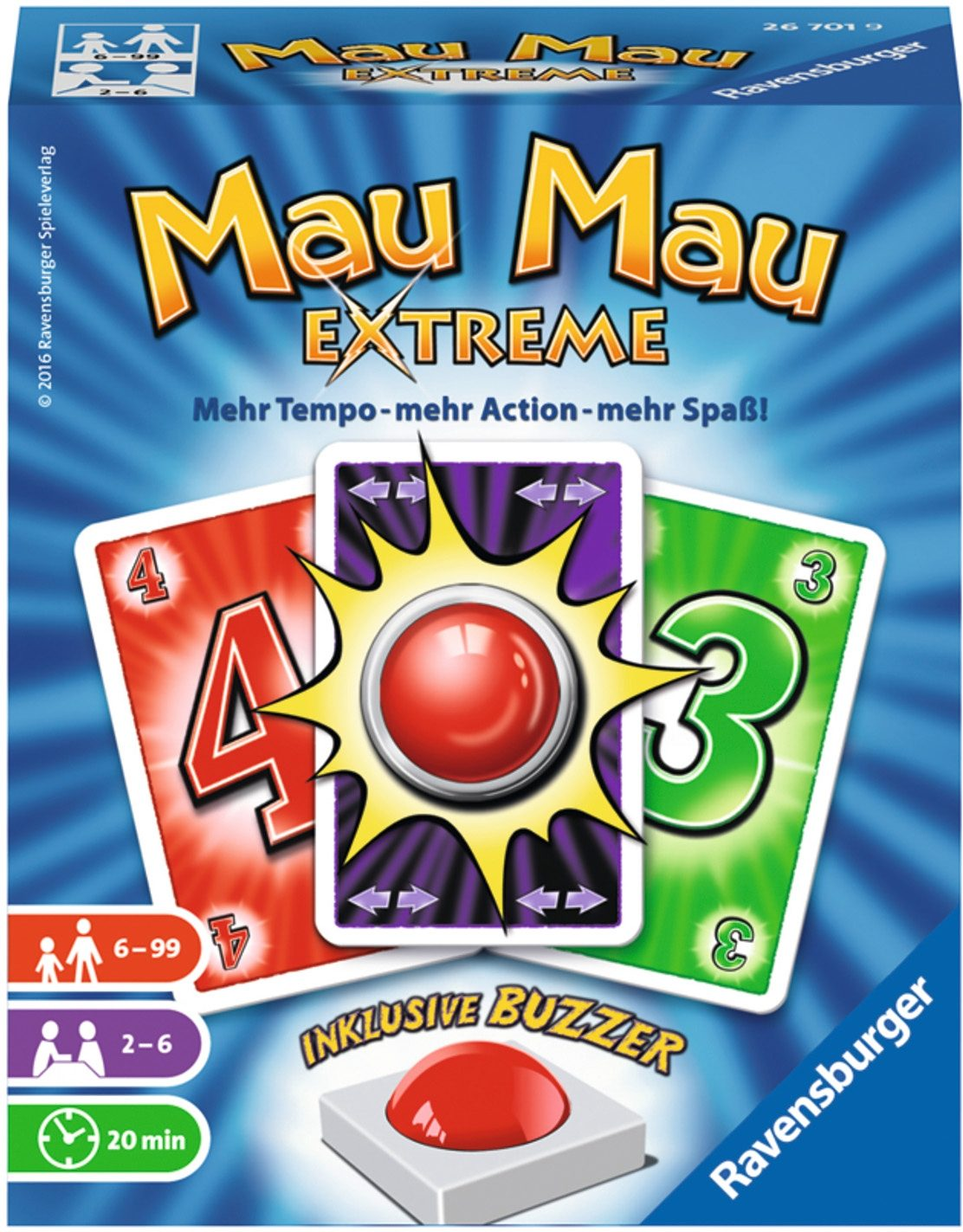 Ravensburger Kartenspiel, »Mau Mau Extreme«