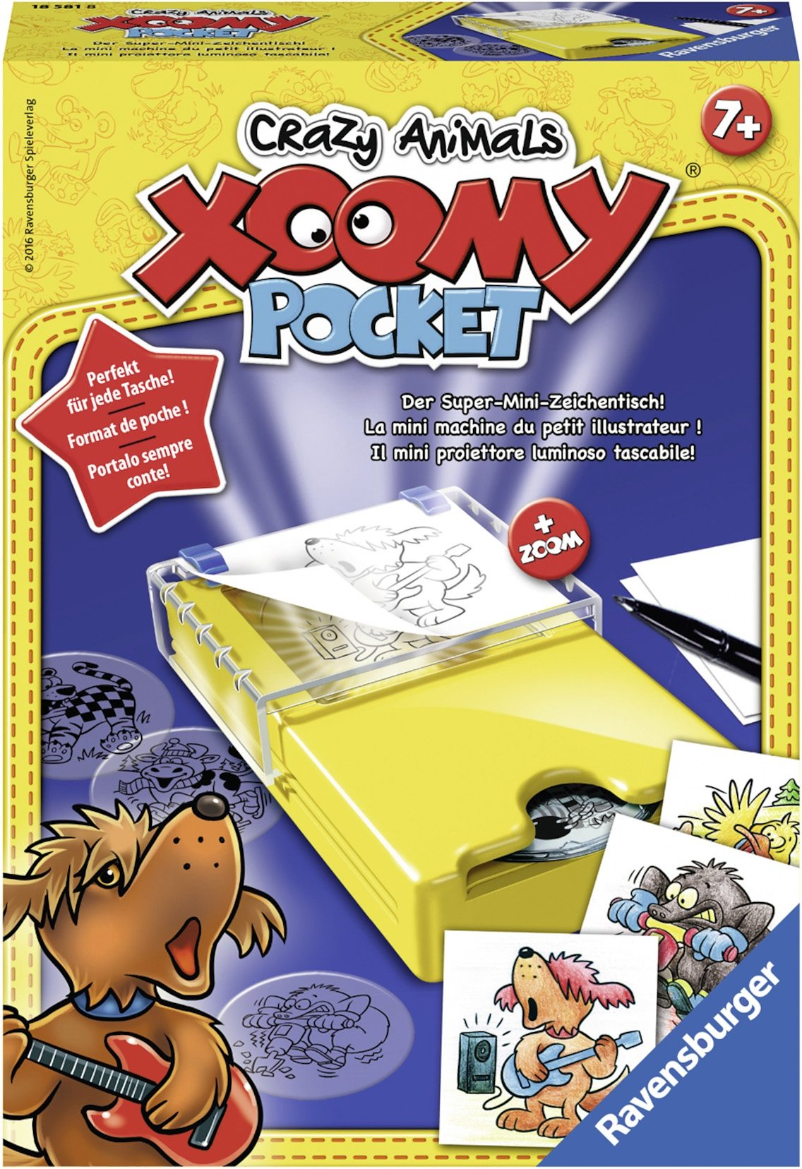 Ravensburger Zeichentisch, »Xoomy® Pocket Crazy Animals«