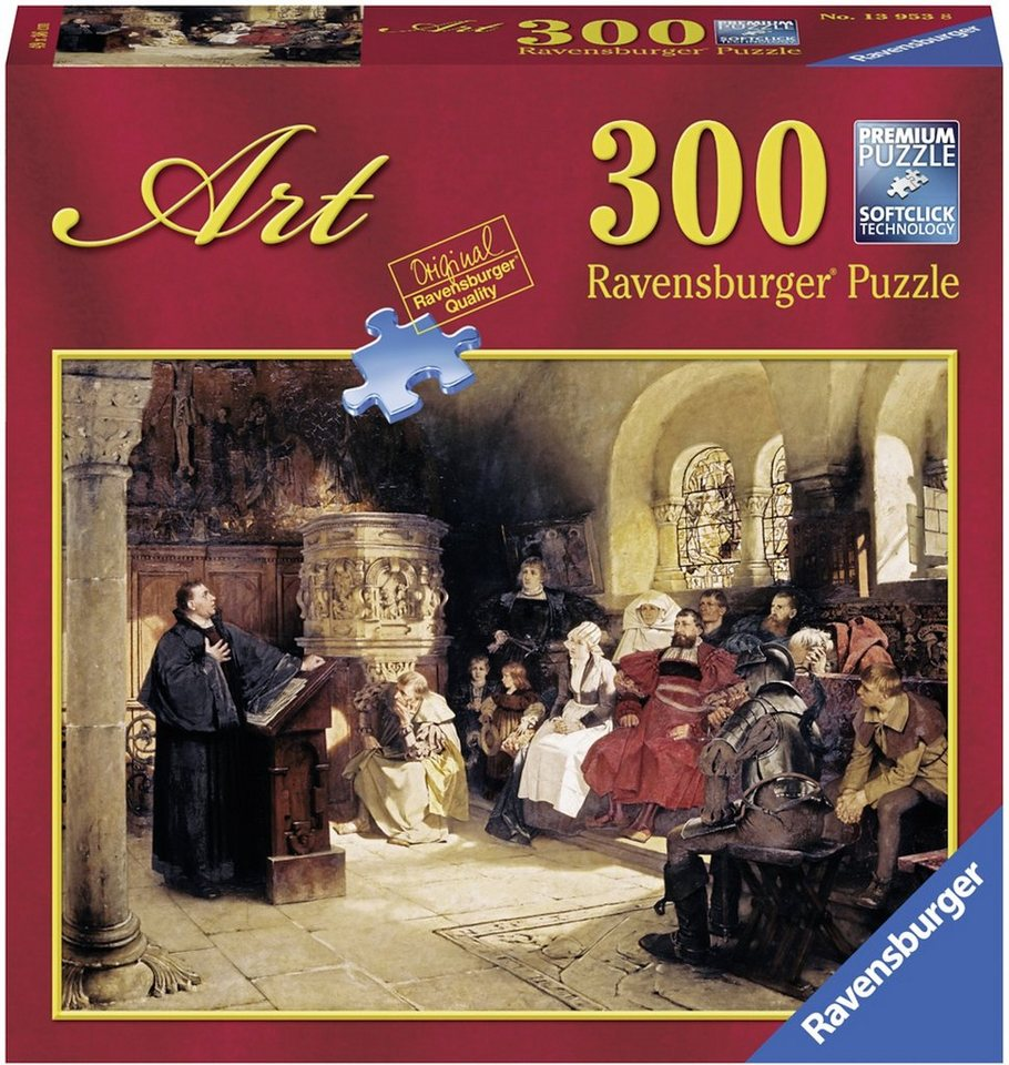 Ravensburger Puzzle, 300 Teile, »Predigt auf der Wartburg«