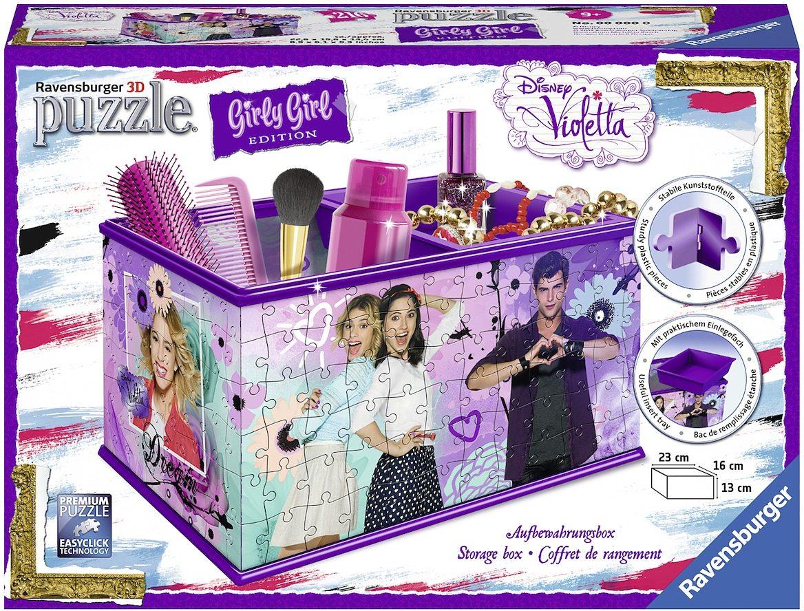 Ravensburger 3D Puzzle, 216 Teile, »Disney Violetta Aufbewahrungsbox«