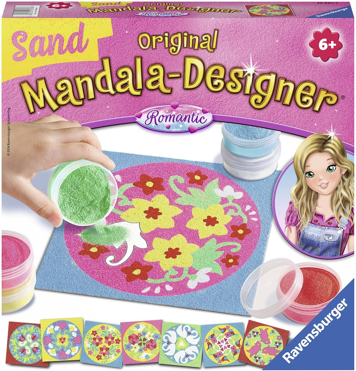 Ravensburger Bastelset, »Mandala Designer Sand romantic«