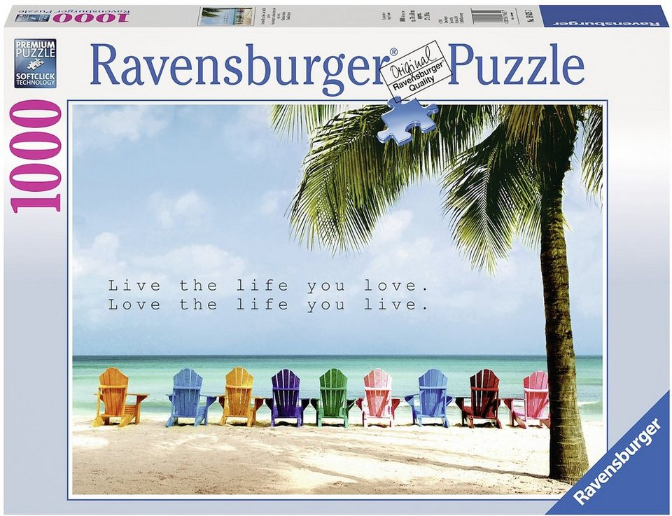 Ravensburger Puzzle, 1000 Teile, »Live the life you love«