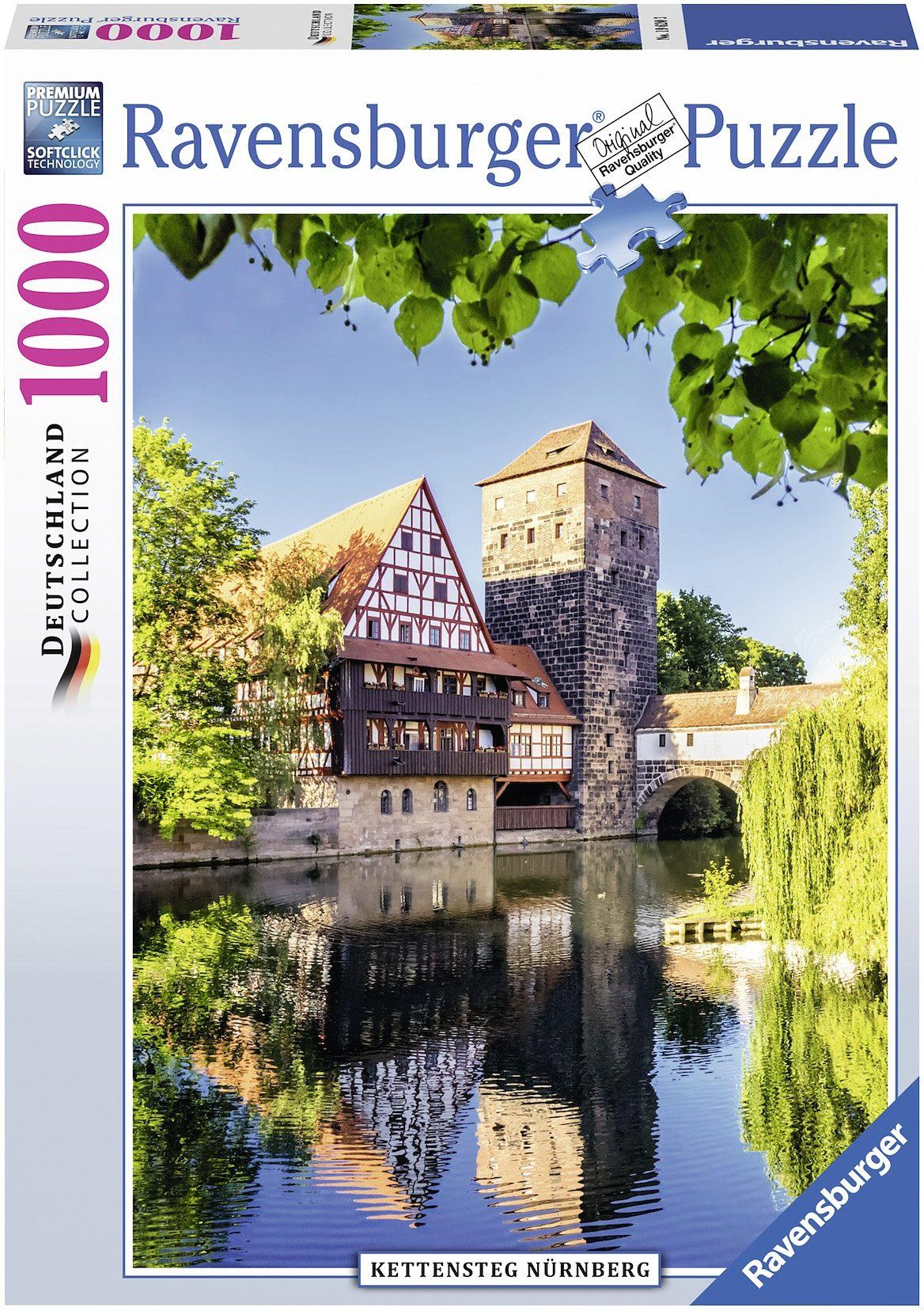 Ravensburger Puzzle, 1000 Teile, »Kettensteg Nürnberg«