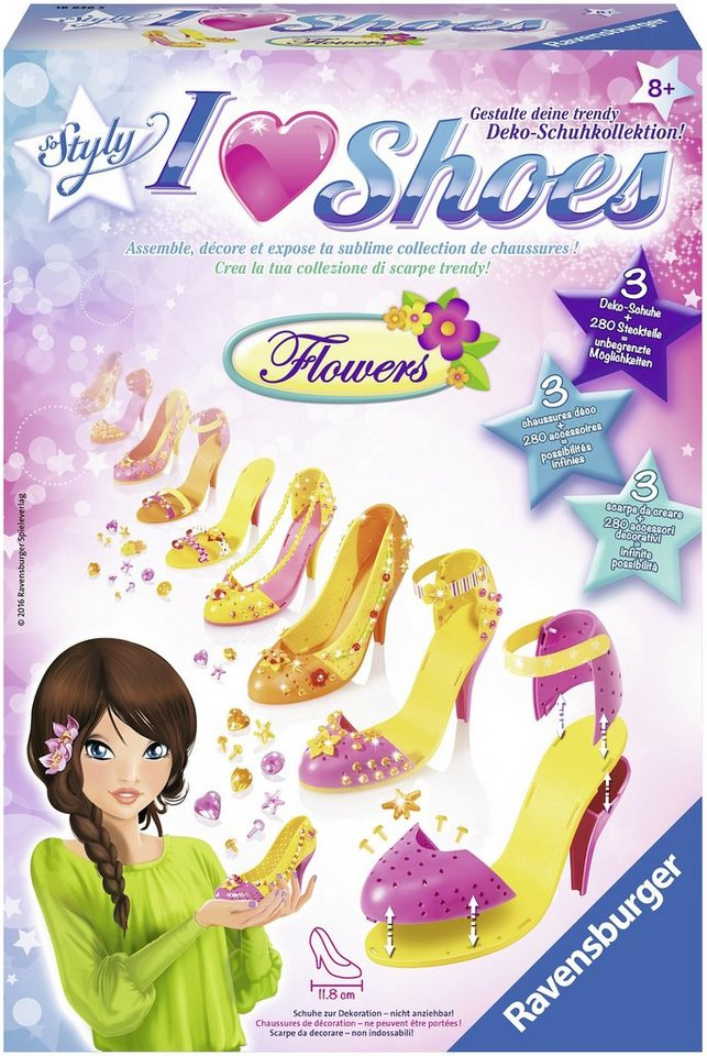 Ravensburger Kreativ Set, »So Styly I Love Shoes Flowers«