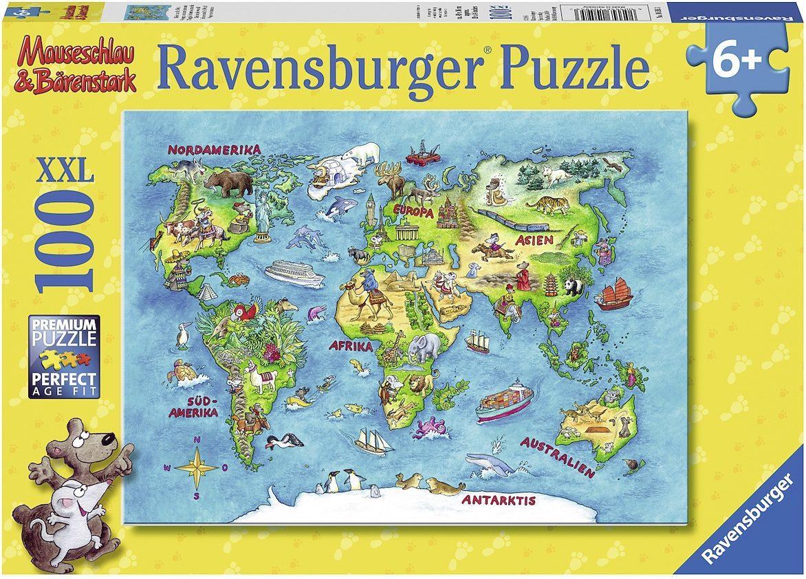 Ravensburger XXL Puzzle, 100 Teile, »Reise um die Welt«
