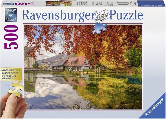 Ravensburger Puzzle »Mühle am Blautopf«, 500 Puzzleteile, Made in Germany