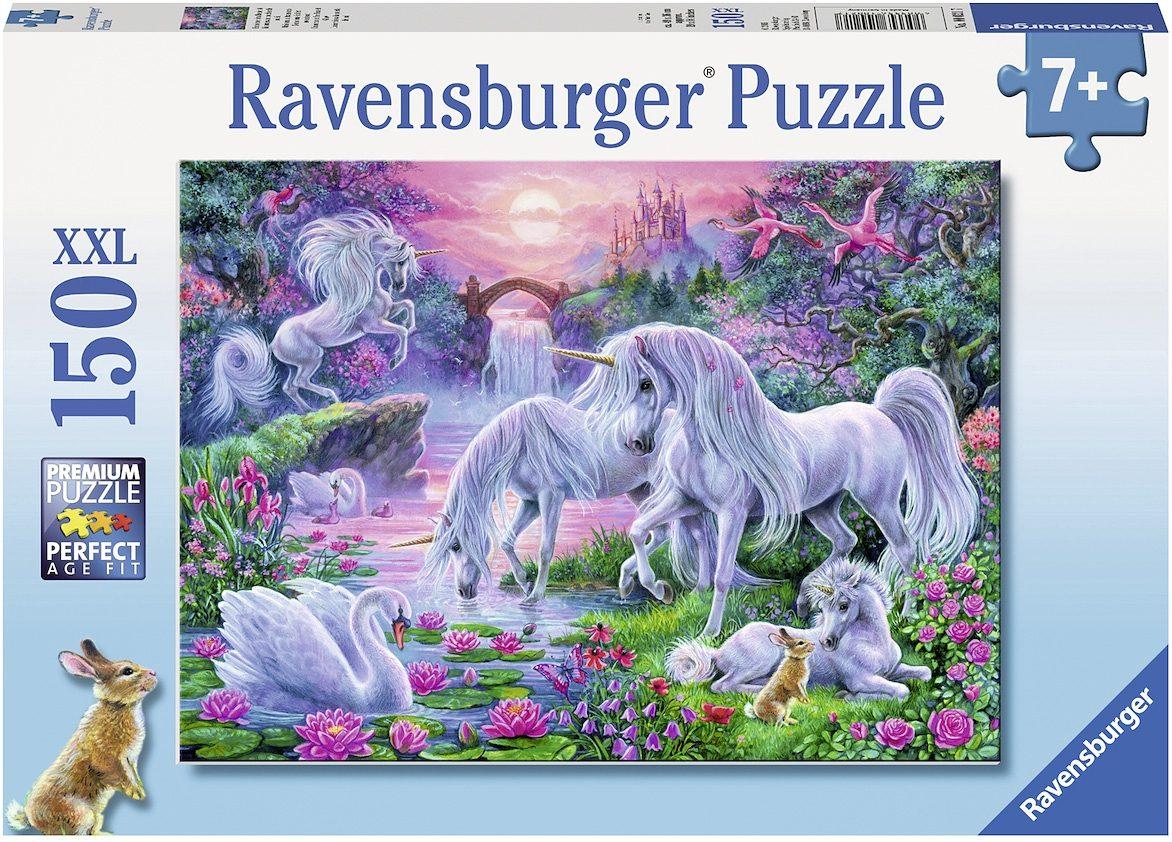 Ravensburger XXL Puzzle, 150 Teile, »Einhörner im Abendrot«