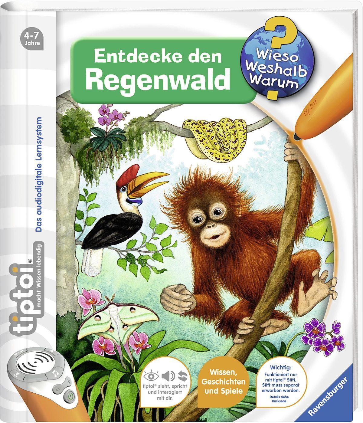 Ravensburger Buch tiptoi®, »Entdecke den Regenwald«