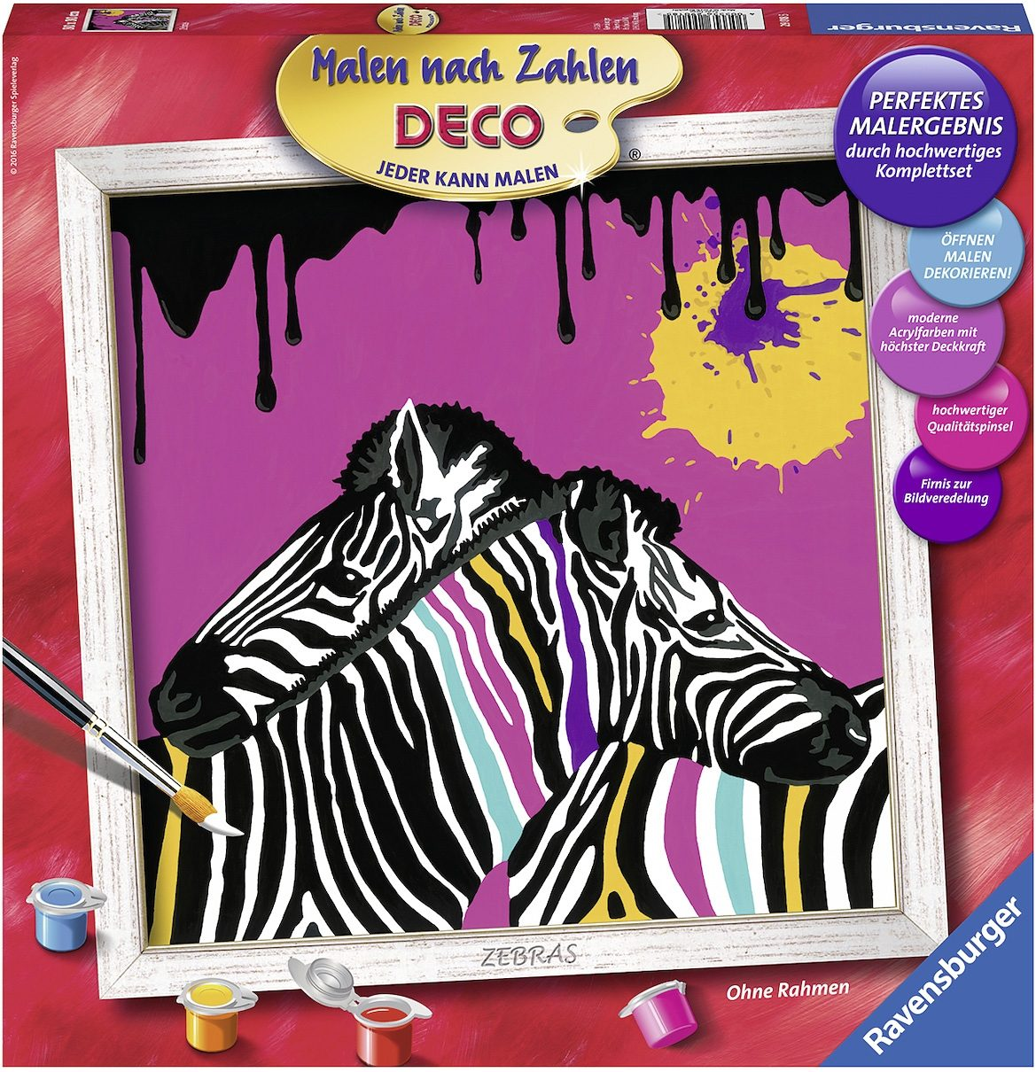 Ravensburger Malen nach Zahlen Deco, »Zebras«