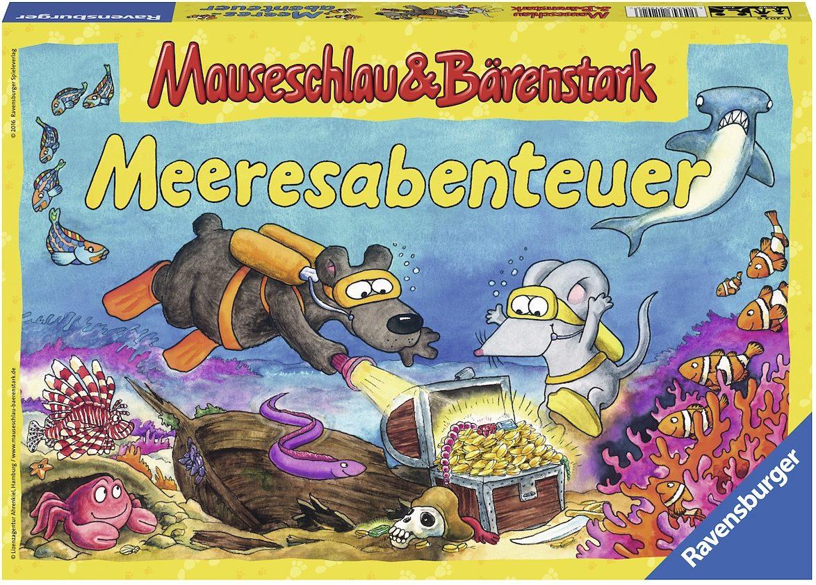 Ravensburger Würfelspiel, »Mäuseschlau und Bärenstark Meeresabenteuer«