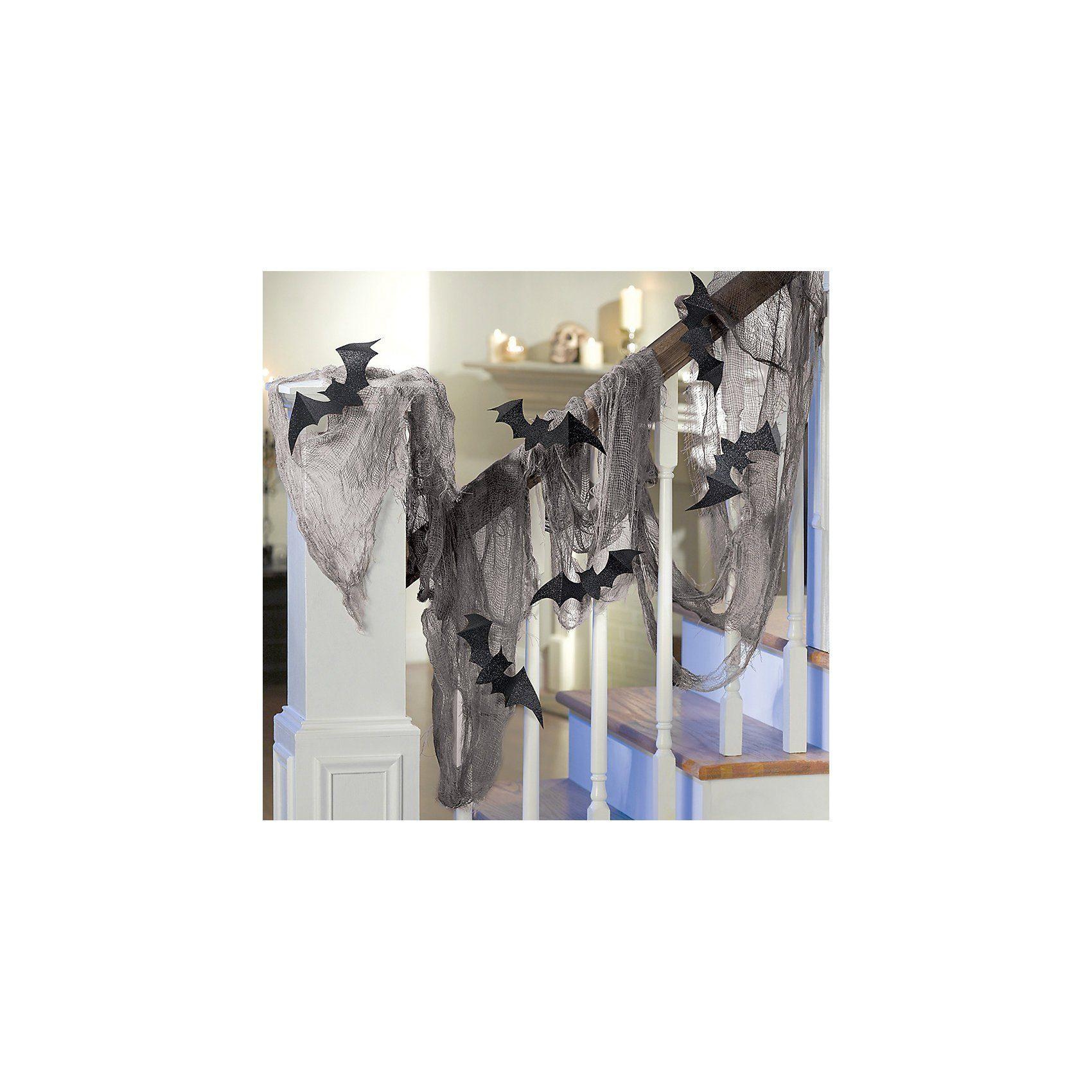 Amscan Spinnennetz + Fledermäuse Halloween Haunted House, 4,5 x 2,4