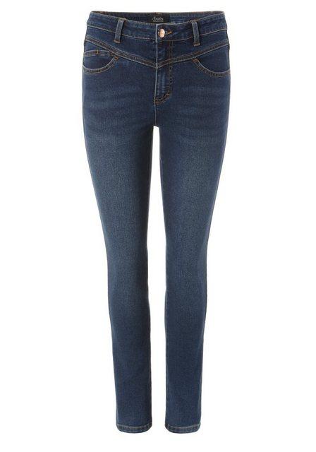 Hosen - Aniston SELECTED Slim fit Jeans Regular Waist NEUE KOLLEKTION › blau  - Onlineshop OTTO