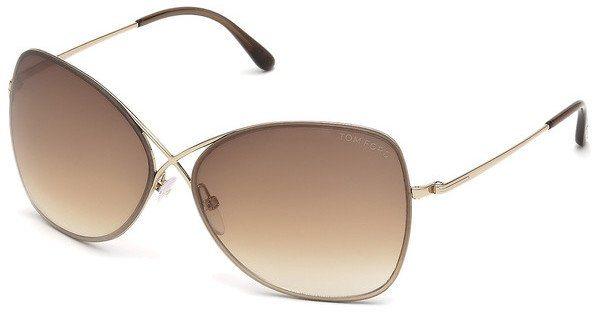 Tom Ford Damen Sonnenbrille »Colette FT0250« in 28F - gold