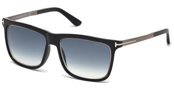 Tom Ford Herren Sonnenbrille »Karlie FT0392«, schwarz, 02W - schwarz/blau