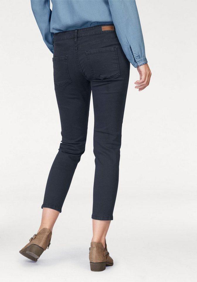s.Oliver RED LABEL 7/8-Jeans Ziertaschen mit Reißverschluss in marine