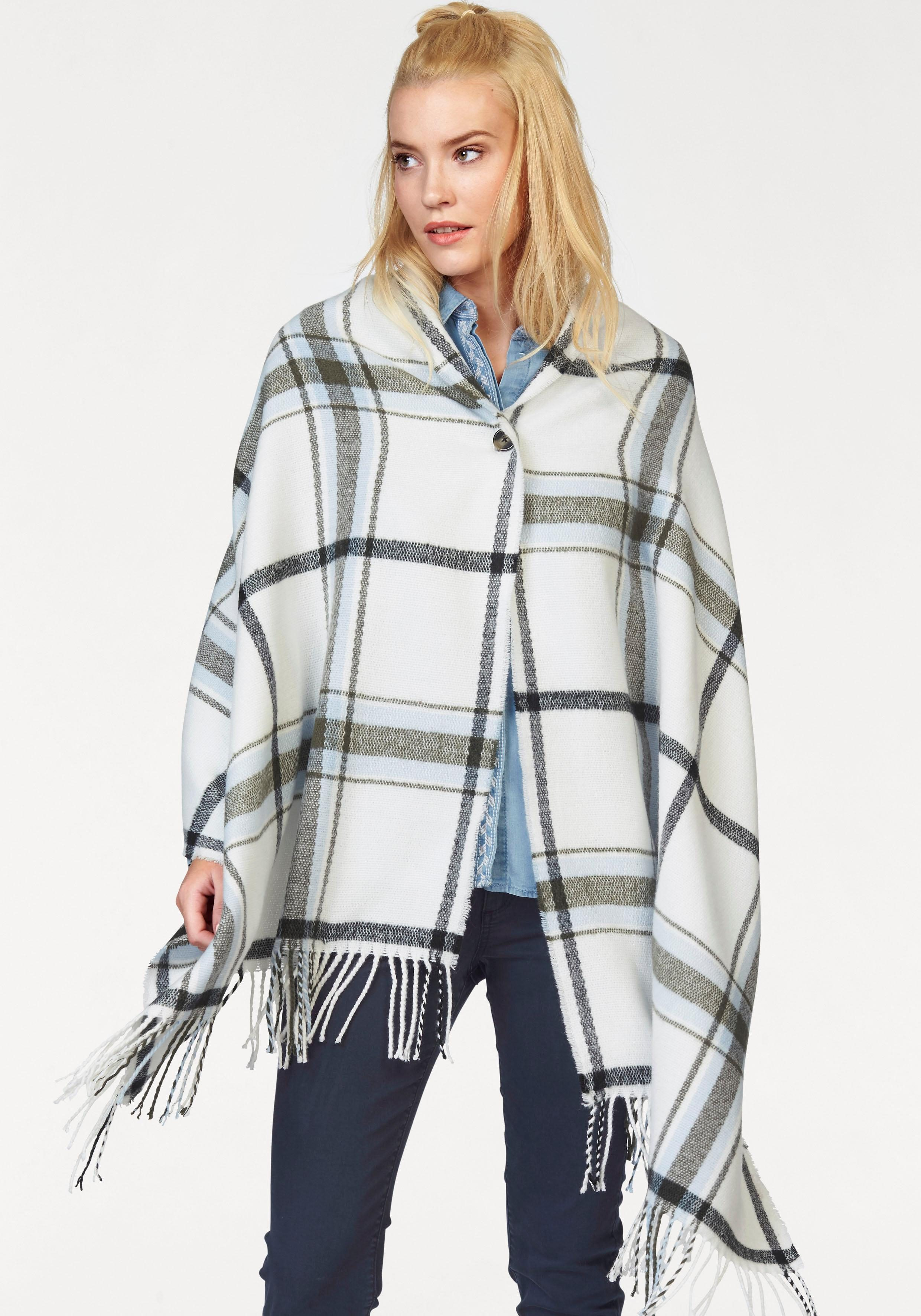 s.Oliver RED LABEL Poncho im Karo-Muster