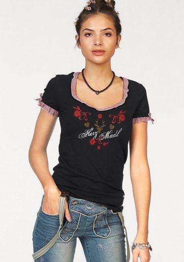 AJC T-Shirt, mit Trachten Stickerei fürs Oktoberfest
