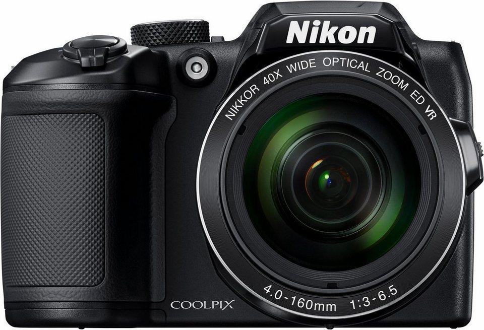 Nikon Coolpix B500 Kompakt Kamera, 16 Megapixel, 40x opt. Zoom, 7,5 cm (3 Zoll) Display in schwarz