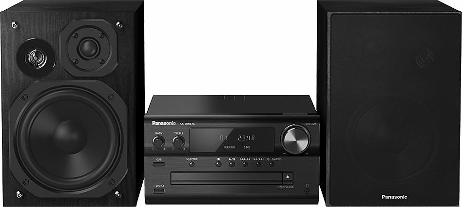 Panasonic SC-PMX74 Microanlage, Hi-Res, Bluetooth, NFC, Digitalradio (DAB+), RDS, 1x USB in schwarz