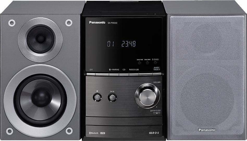 Panasonic SC-PM600 Microanlage, Bluetooth, RDS, 1x USB in silberfarben