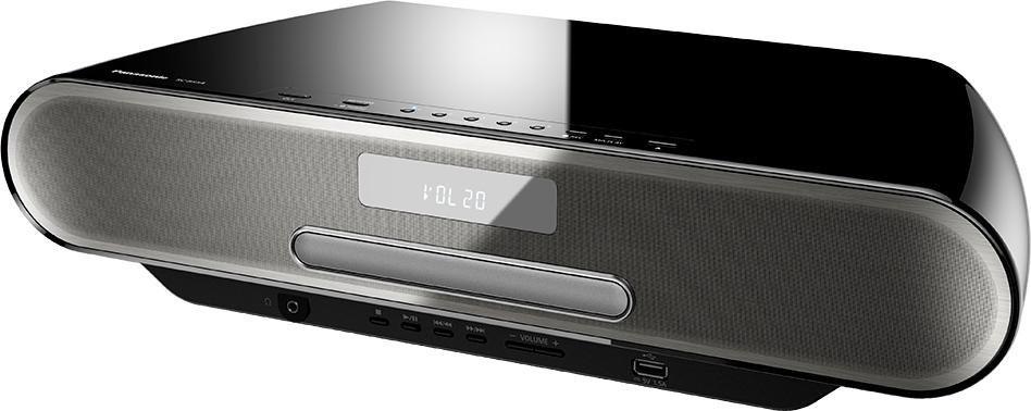 Panasonic SC-RS54 Microanlage, Bluetooth, Digitalradio (DAB+), RDS, 1x USB in schwarz