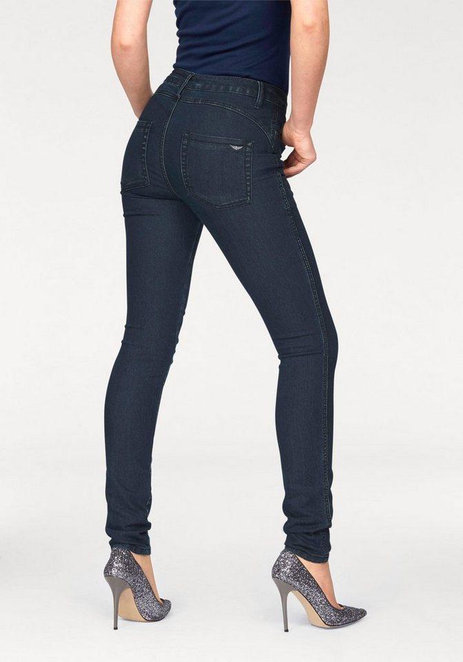 Arizona Skinny-fit-Jeans »Shaping« High Waist in dark-blue-used
