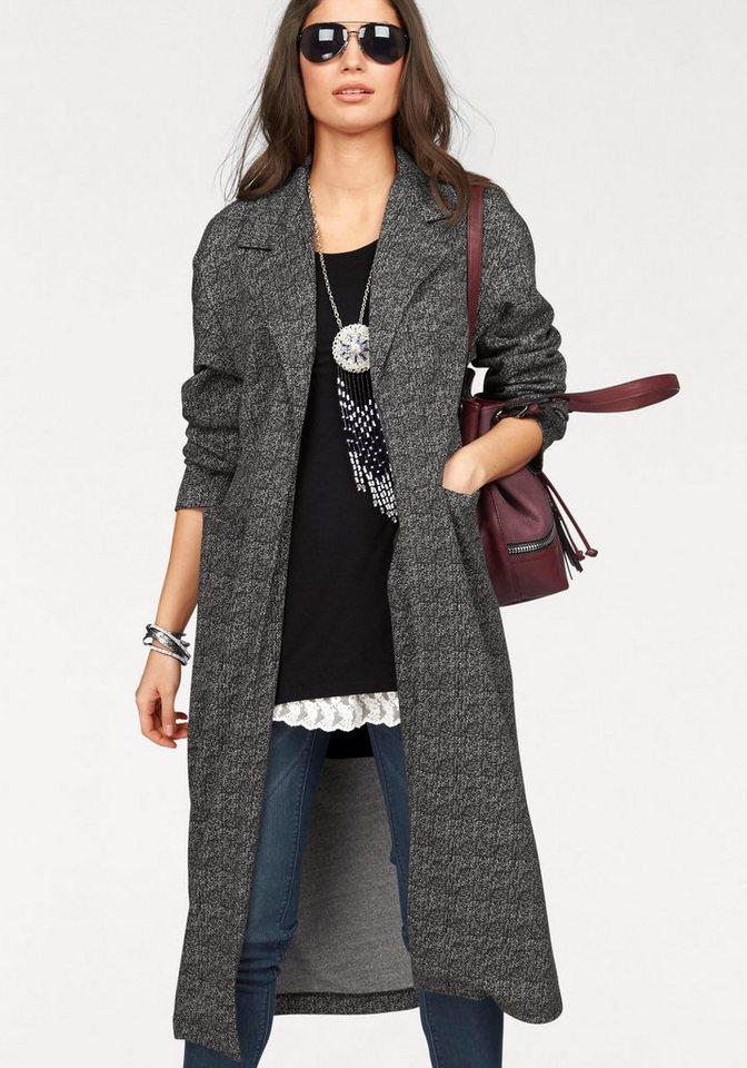 Boysen's Wirkmantel »casual indoor coat« in XL-Länge in grau-meliert