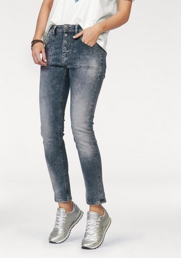 MUSTANG 5-Pocket-Jeans Tapered fit, Innen farbig