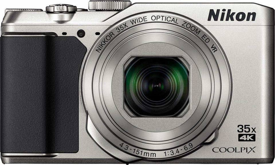 Nikon Coolpix A900 Kompakt Kamera, 20,3 Megapixel, 35x opt. Zoom, 7,5 cm (3 Zoll) Display in silberfarben