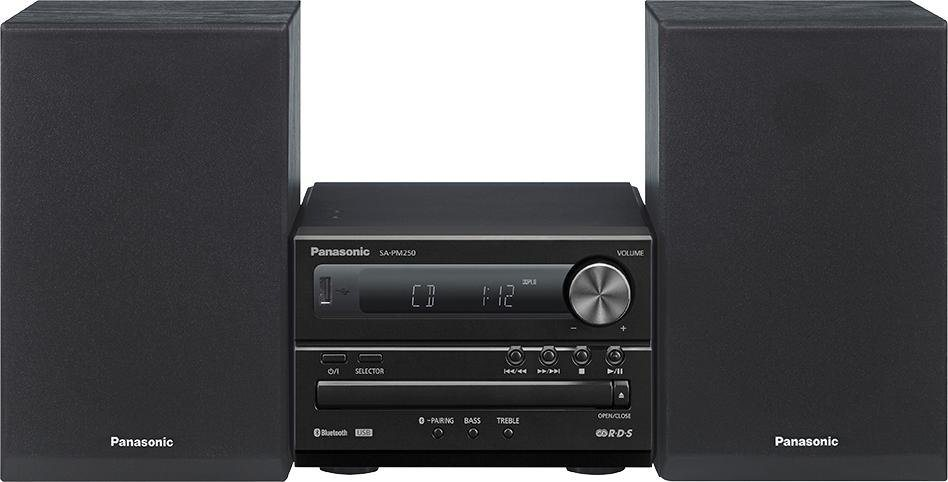 Panasonic SC-PM250 Microanlage, Bluetooth, RDS, 1x USB in schwarz