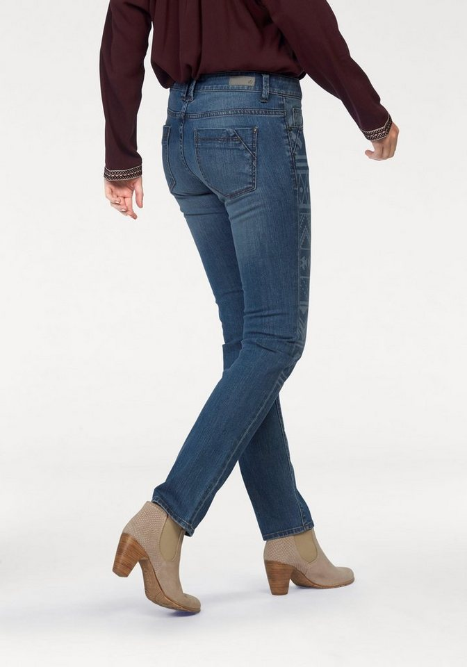 s.Oliver RED LABEL Skinny-fit-Jeans Laser-Ornamente in blue-stone