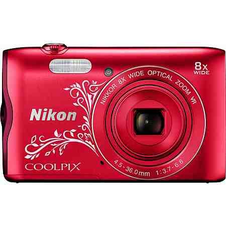 Nikon Coolpix A300 Kompakt Kamera, 20,1 Megapixel, 8x opt. Zoom, 6,7 cm (2,7 Zoll) Display