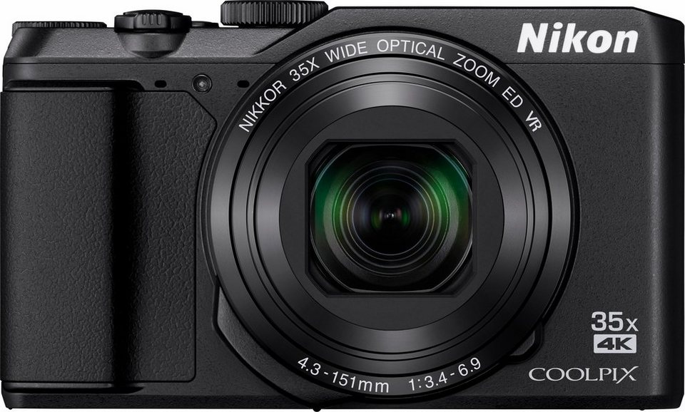 Nikon Coolpix A900 Kompakt Kamera, 20,3 Megapixel, 35x opt. Zoom, 7,5 cm (3 Zoll) Display in schwarz