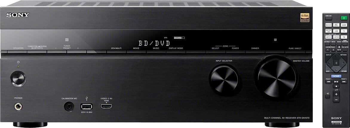 Sony STR-DN1070 AV-Receiver, Hi-Res, 4K, Multiroom, Airplay, DSD, WLAN, Bluetooth, NFC