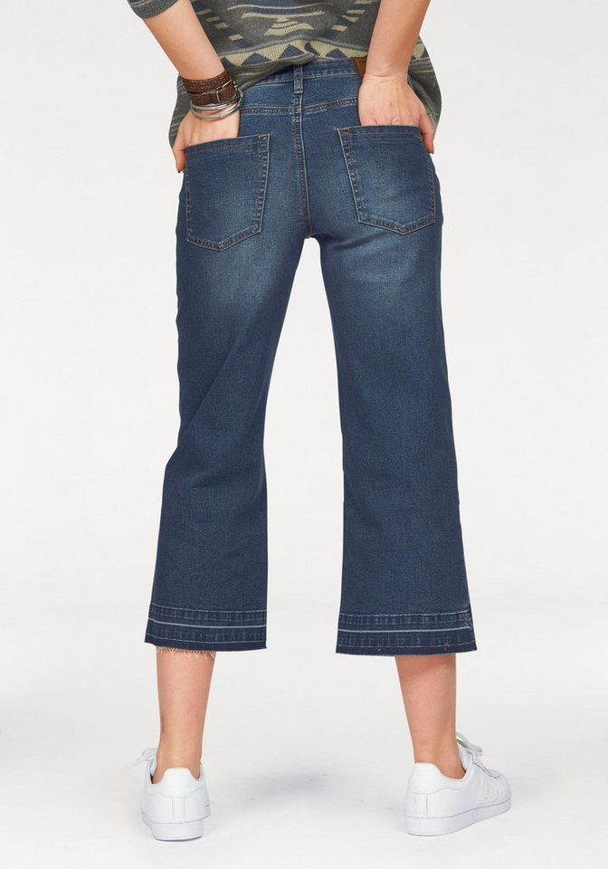 Arizona Weite Jeans »Culotte« die ultimative Stretch-Jeans in darkblue-used