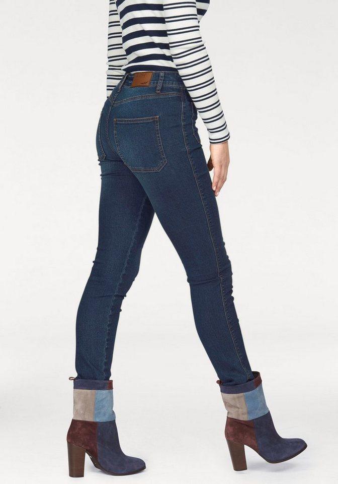 Arizona Skinny-fit-Jeans High Waist in dark-blue-used