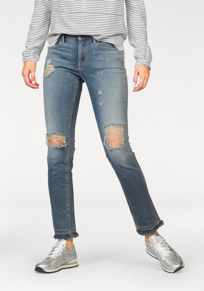 Hilfiger Denim Slim-fit-Jeans »Naomi« mit Heavy-Destroyed-Effekten in shore-indigo