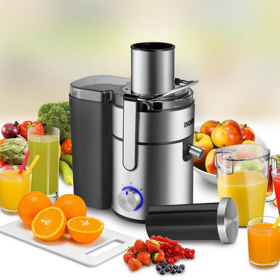UNOLD® Entsafter Saft-Bar Edel 78245, 1,1 Liter Fassungsvermögen in Edelstahl/Schwarz