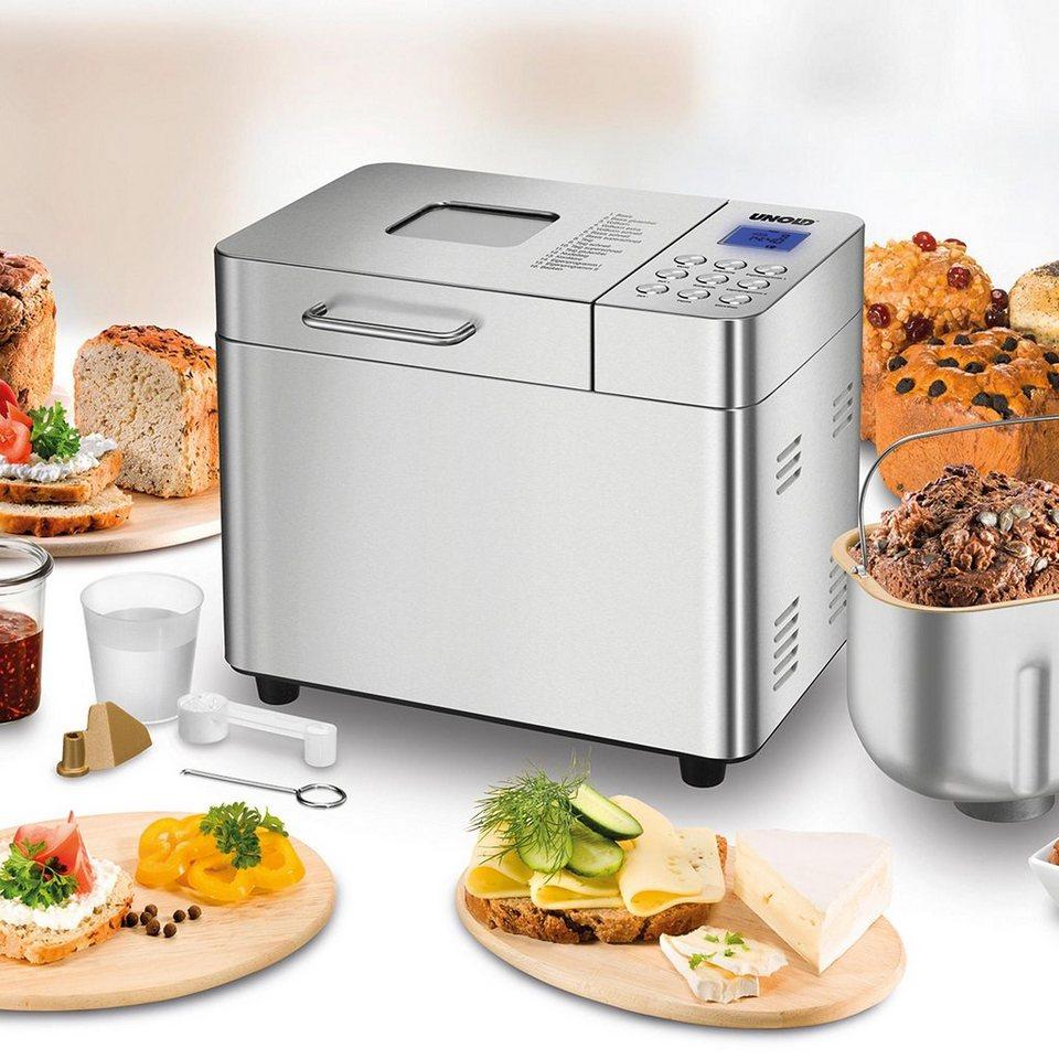 UNOLD® Brotbackautomat Backmeister Edel 68456, bis zu 1.000 g Brotgewicht in Edelstahl