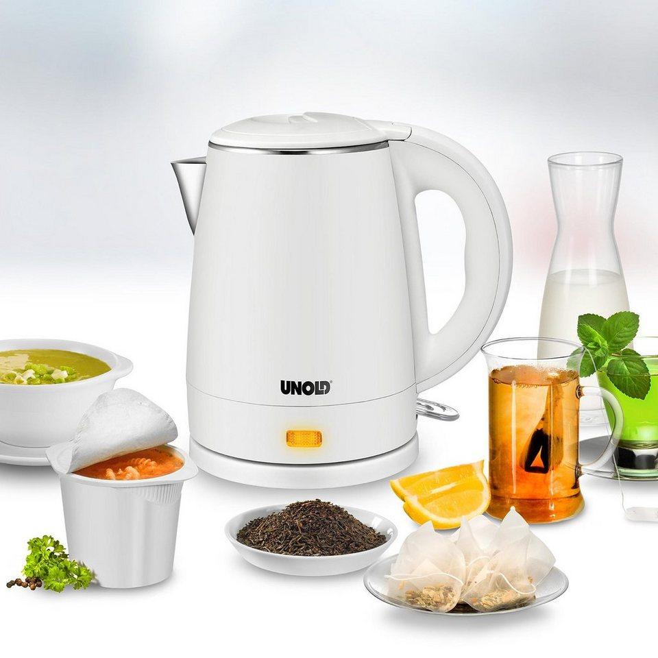 UNOLD® Wasserkocher Blitzkocher White 18320, 1 Liter, max. 2.200 Watt in Weiß
