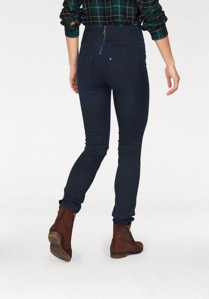 ajc slim fit jeans high waisted mit rei verschluss hinten. Black Bedroom Furniture Sets. Home Design Ideas