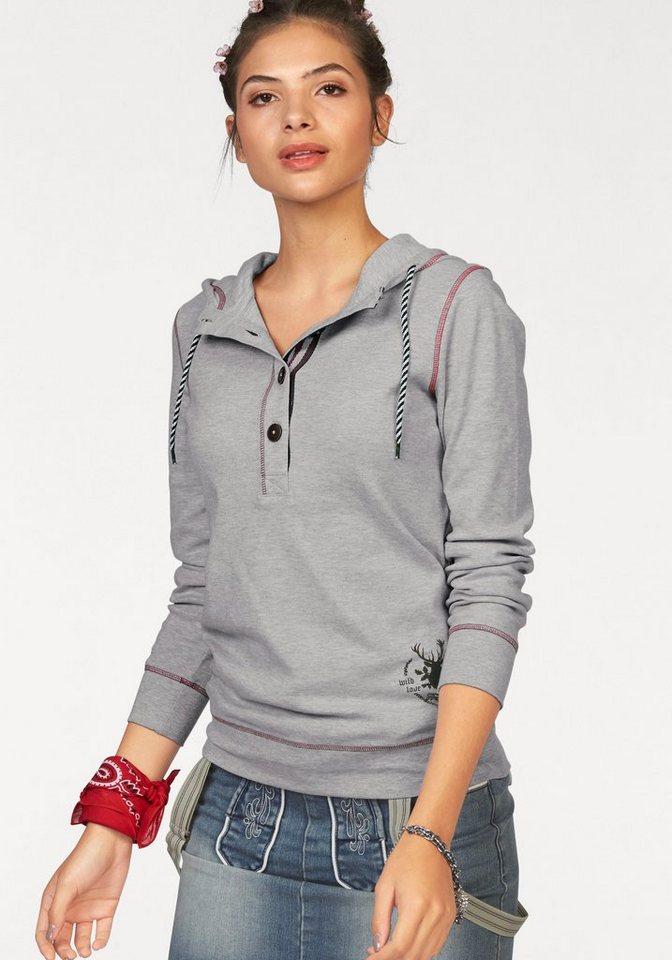 AJC Kapuzensweatshirt perfekt für das Oktoberfest in grau