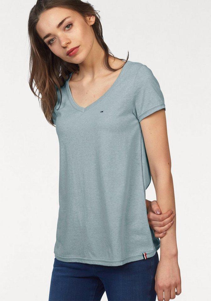 Hilfiger Denim T-Shirt mti melange Effekt in mint