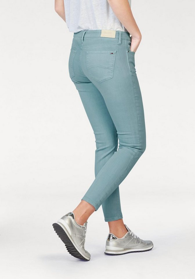 Hilfiger Denim Skinny-fit-Jeans aus farbigem Denim in aquablau